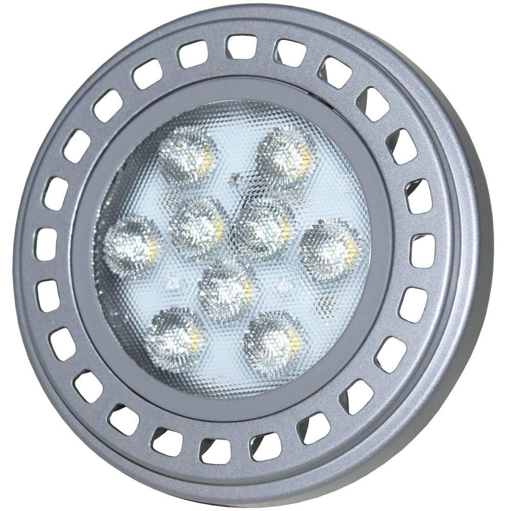 Bec LED HEPOL AR111, forma spot, Gx53, 11W, 30000 ore, lumina calda