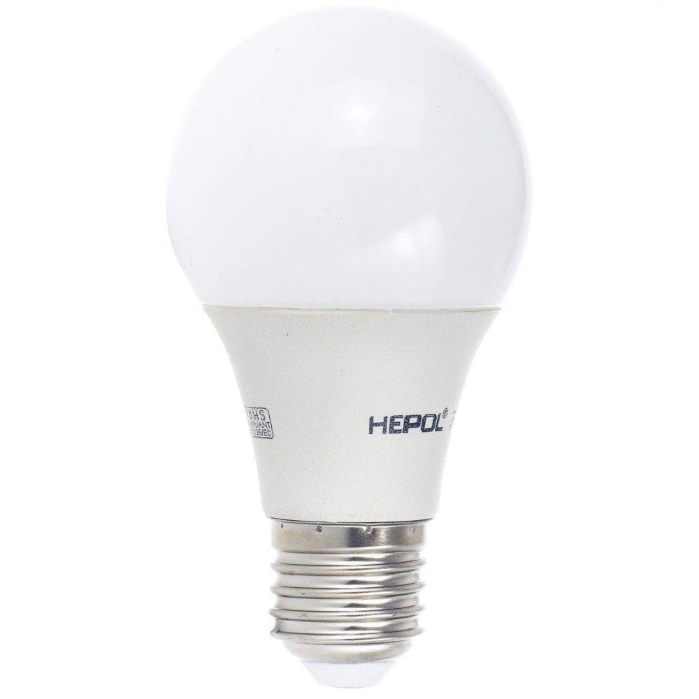 Bec LED HEPOL, forma A60, E27, 7W, 30000 ore, lumina calda