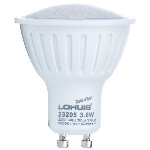 Bec LED LOHUIS ECOLINE, forma spot, GU10, 3.6W, 30000 ore, lumina rece