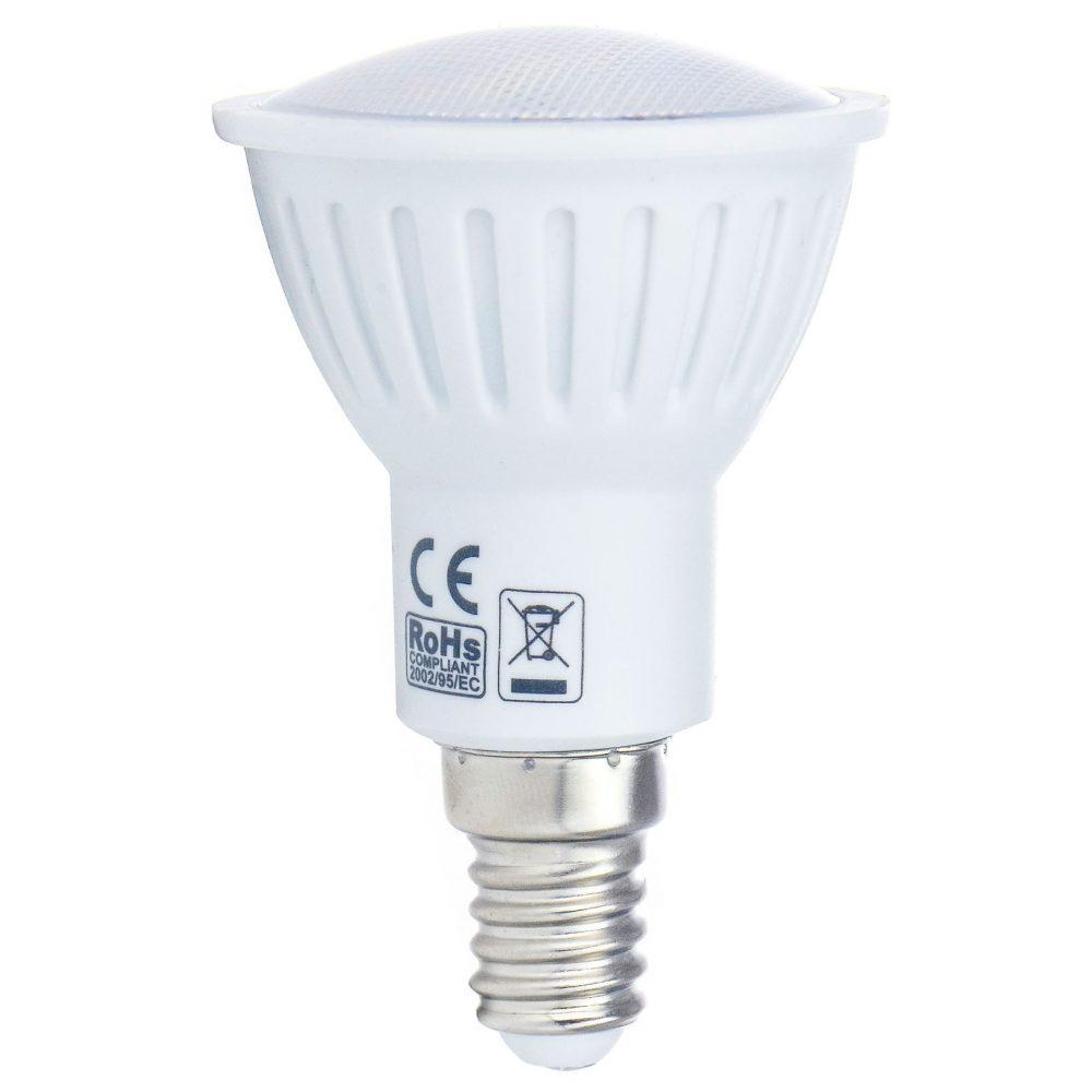 Bec LED HEPOL ECOLINE, forma spot, E14, 3.6W, 30000 ore, lumina calda