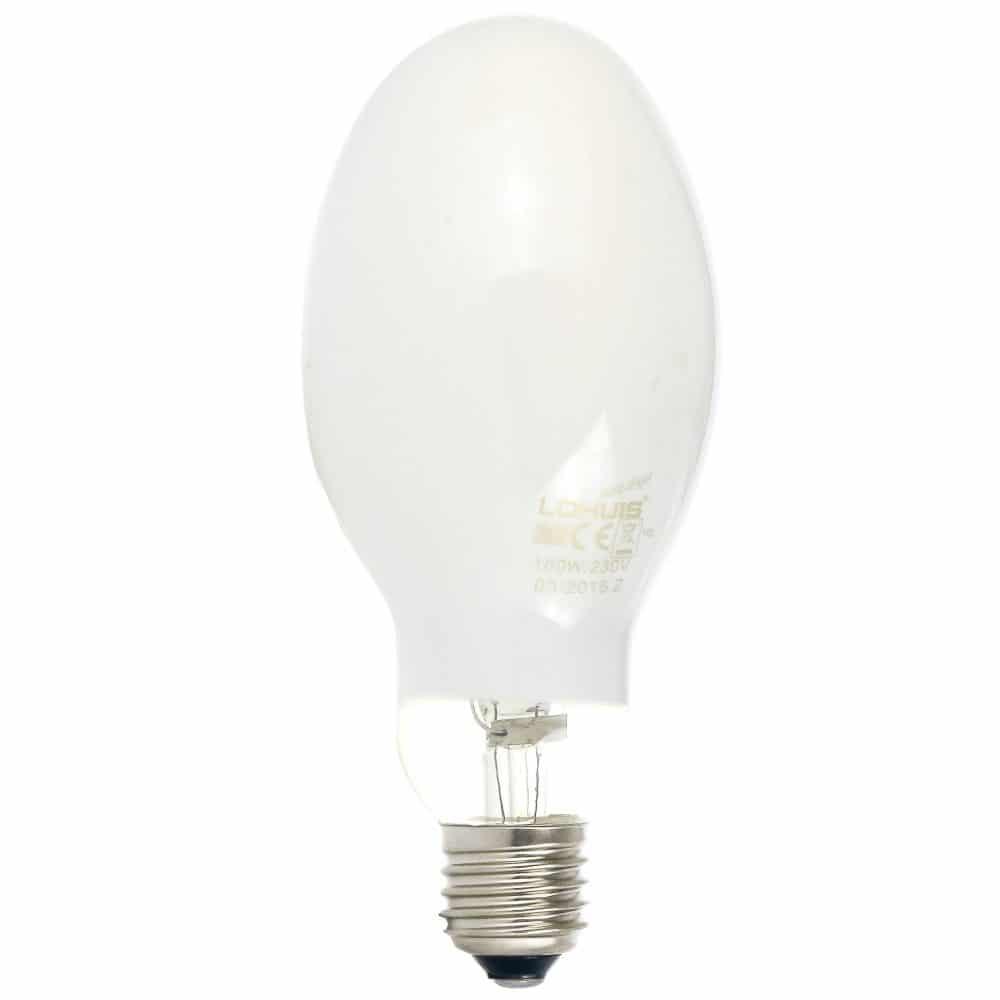 Lampa vapori mercur LOHUIS, autoaprindere, forma elipsoidala, E27, 160W, 4000 ore