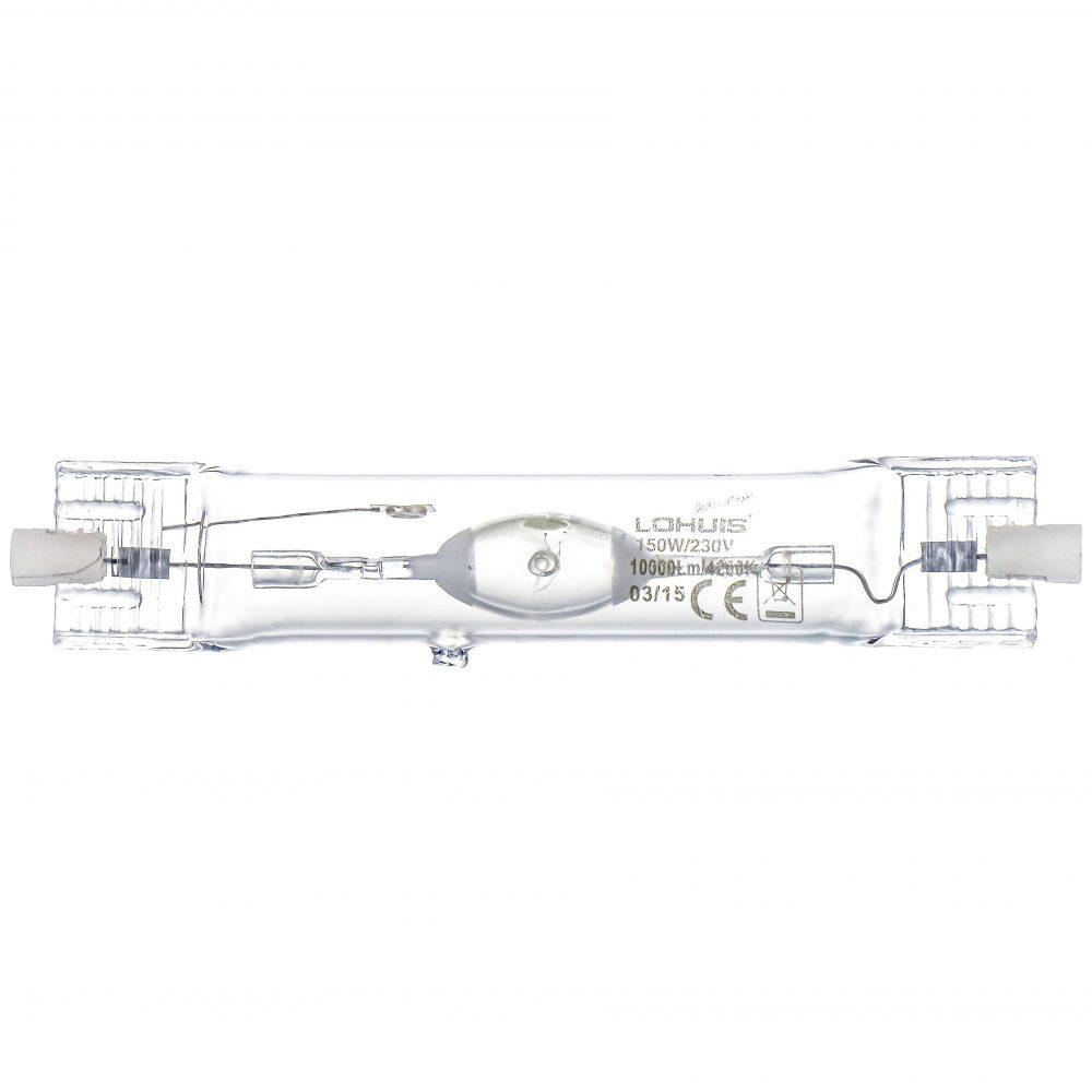 Lampa halogenuri metalice LOHUIS, forma tubulara, Rx7S, 150W, 7000 ore