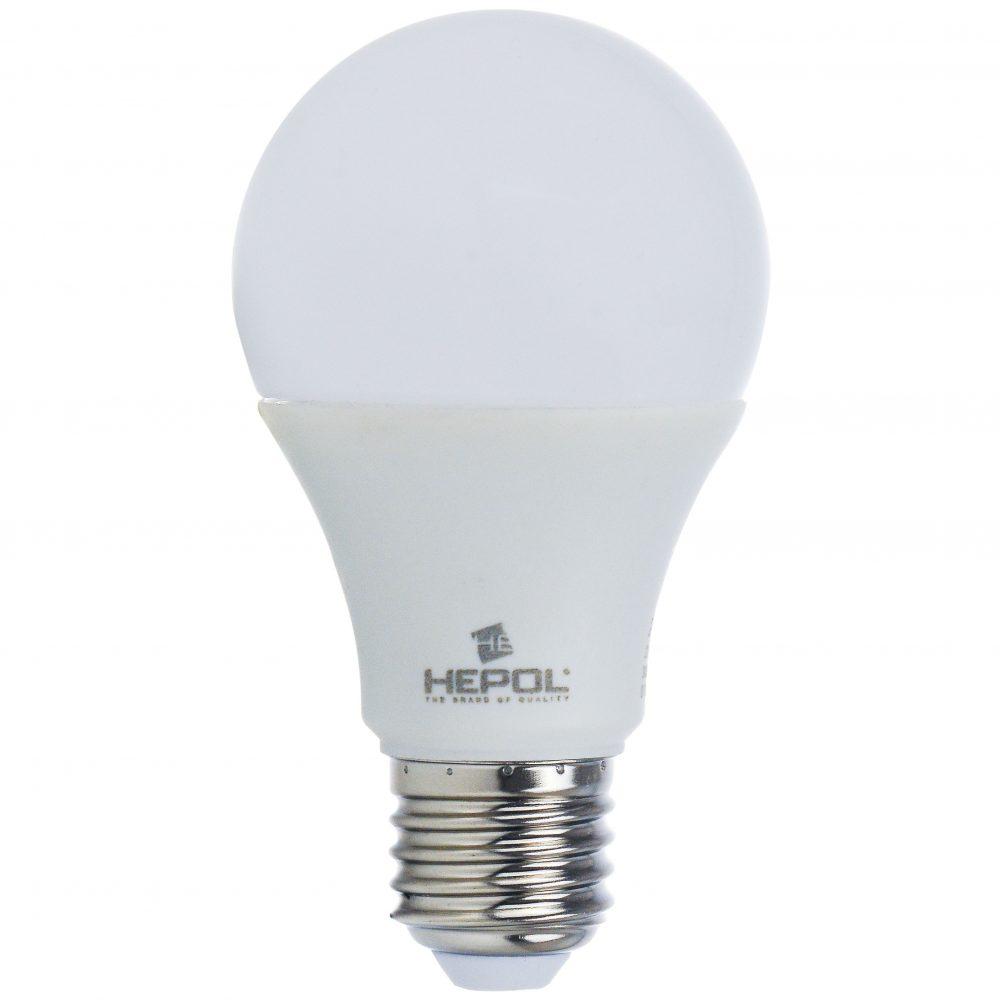 Bec LED HEPOL, forma A60, E27, 10W, 30000 ore, lumina calda