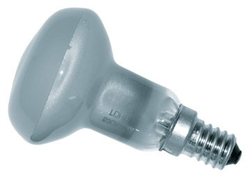 Bec incandescent LOHUIS, forma reflector R50, E14, 25W, 1000 ore, lumina calda