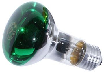 Bec incandescent LOHUIS, forma reflector R63, E27, 40W, 1000 ore, lumina verde