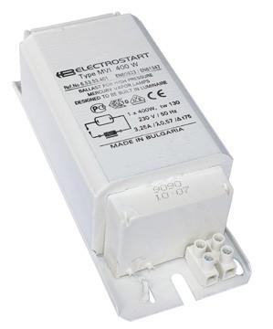 Balast electromagnetic ELECTROSTART, B2, 400W, mercur