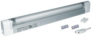 Corp iluminat HEPOL, balast electronic, dispersor, intrerupator, IP40, G5, 1x8W, alb