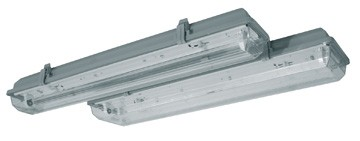Corp iluminat HEPOL, balast electromagnetic, IP65, G13, 1x18W, gri
