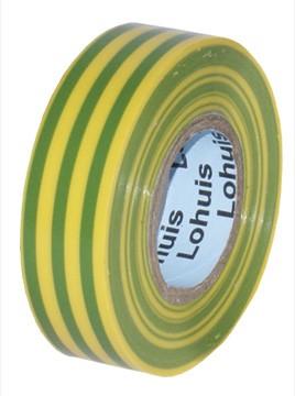 Banda izolatoare LOHUIS, 19mm x 19m, galben-verde