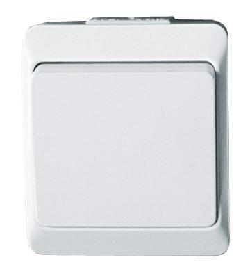 Intrerupator simplu HEPOL PT, aparent/PT, alb