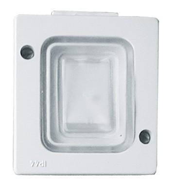 Intrerupator simplu HEPOL AG, aparent/PT, alb