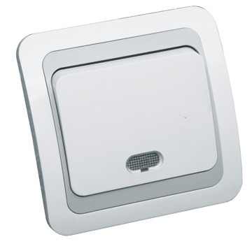 Intrerupator simplu cu LED LOHUIS WB, ingropat/ST, alb