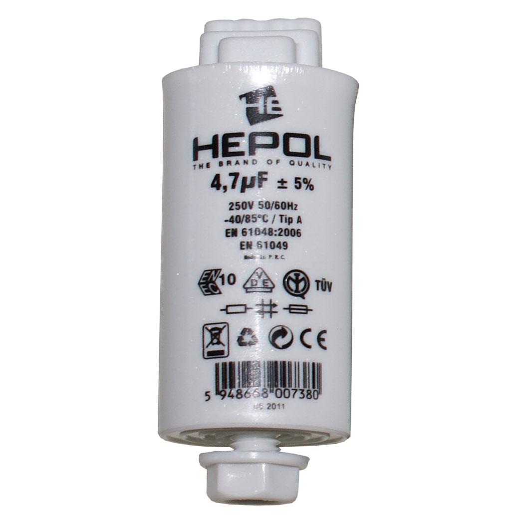 Condensator HEPOL, 250V, 4.7 mF