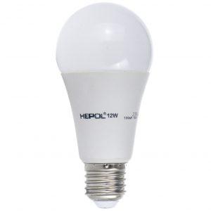 Bec LED HEPOL, forma A60, E27, 12W, 30000 ore, lumina calda