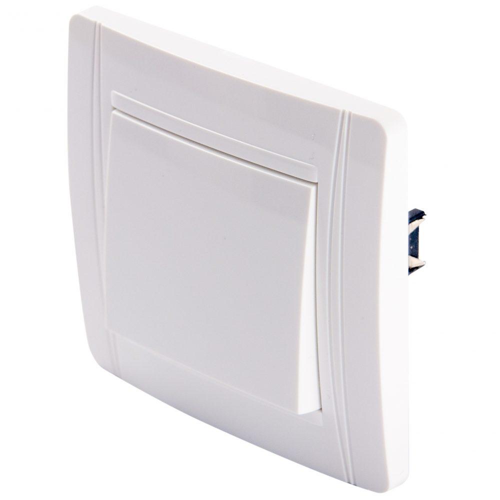 Intrerupator cap scara fara LED LOHUIS seria N, ingropat/ST, alb