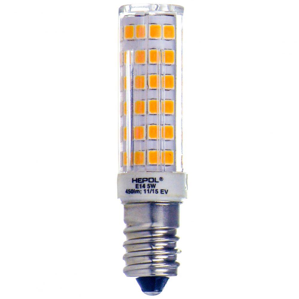 Bec LED HEPOL CORN MINI, forma bulb, E14, 5W, 25000 ore, lumina calda