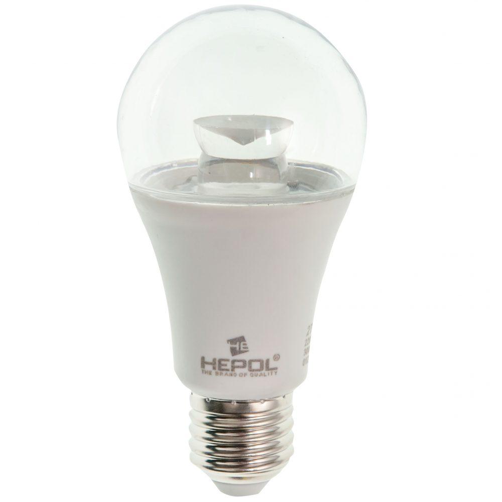Bec LED LOHUIS, forma A60, transparent, E27, 9W, 30000 ore, lumina calda