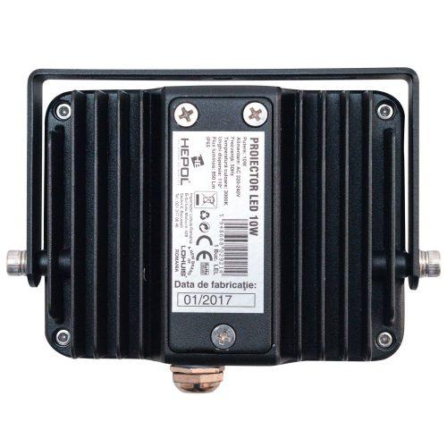 Proiector LED HEPOL, APOLLO, IP65, 10W, negru, lumina calda