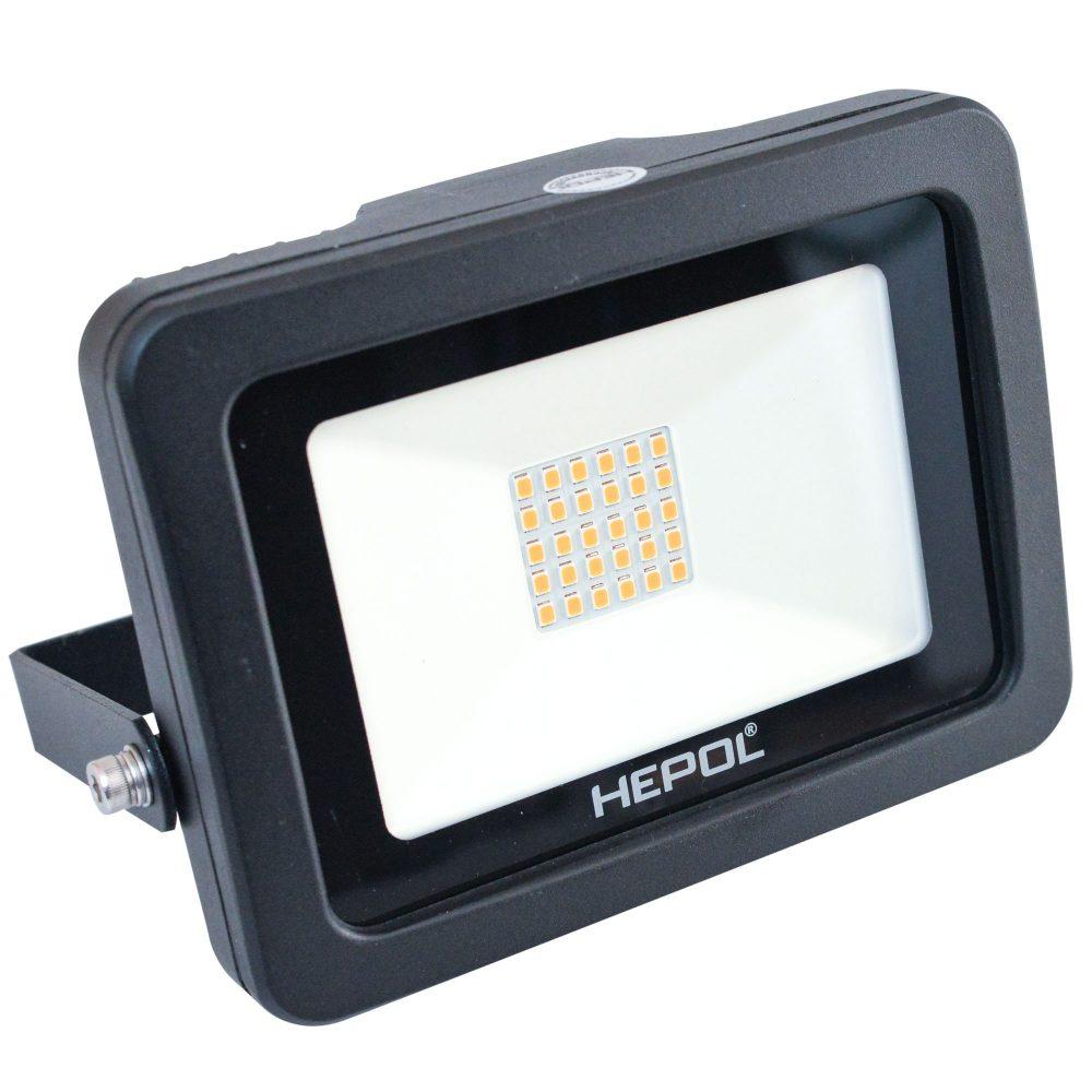 Proiector LED HEPOL, APOLLO, IP65, 20W, negru, lumina calda