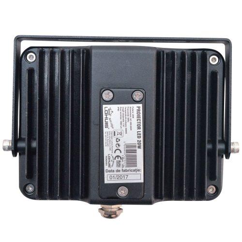 Proiector LED LOHUIS, APOLLO, IP65, 20W, negru, lumina rece