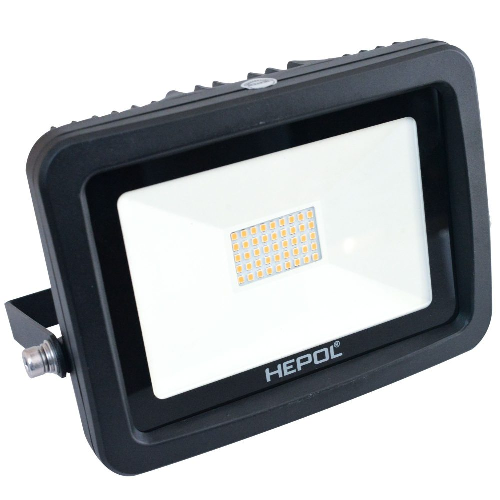 Proiector LED HEPOL, APOLLO, IP65, 30W, negru, lumina calda