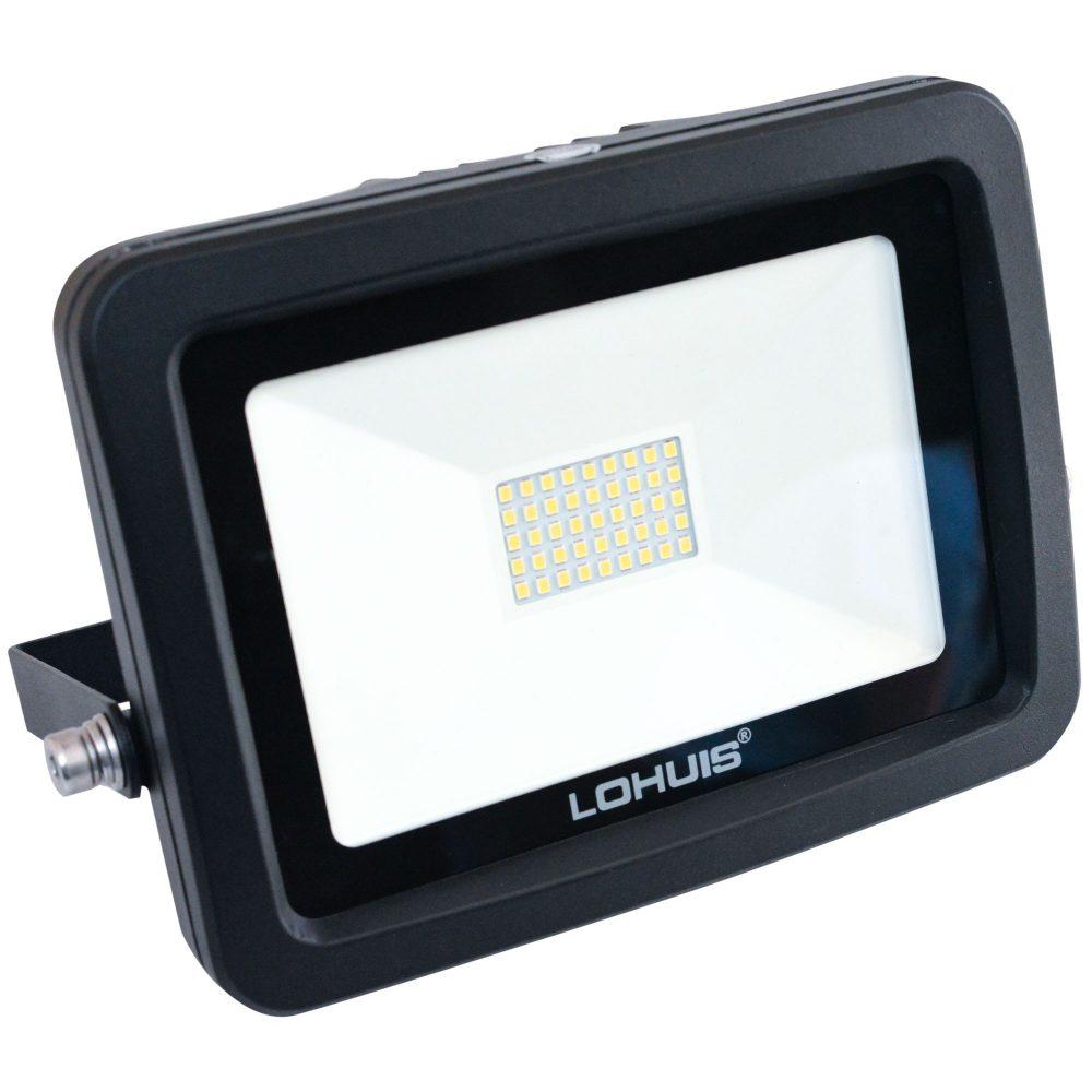 Proiector LED LOHUIS, APOLLO, IP65, 30W, negru, lumina rece