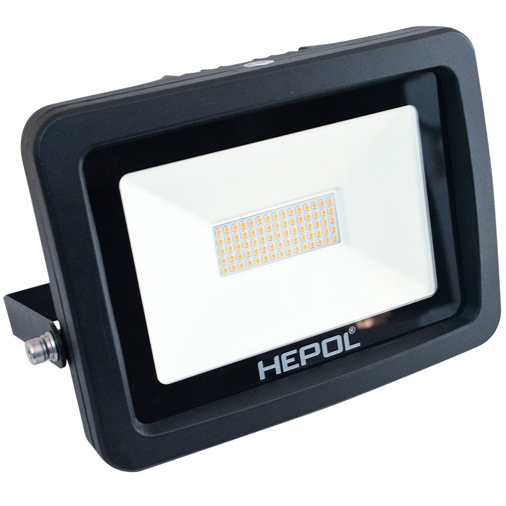 Proiector LED HEPOL, APOLLO, IP65, 50W, negru, lumina calda