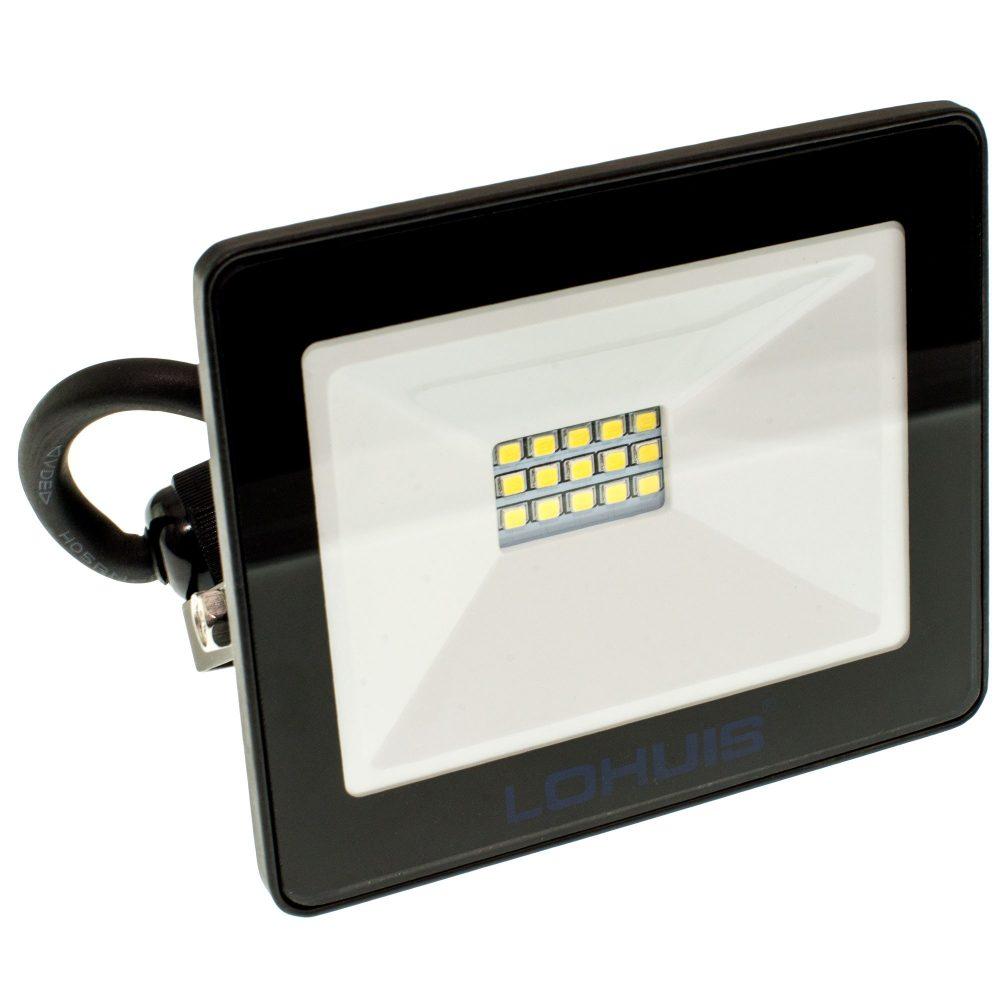 Proiector LED LOHUIS, MINI, IP65, 10W, negru, lumina rece