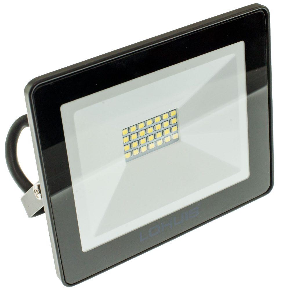 Proiector LED LOHUIS, MINI, IP65, 20W, negru, lumina rece