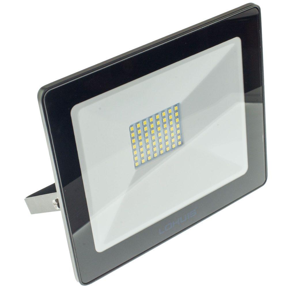 Proiector LED LOHUIS, MINI, IP65, 50W, negru, lumina rece