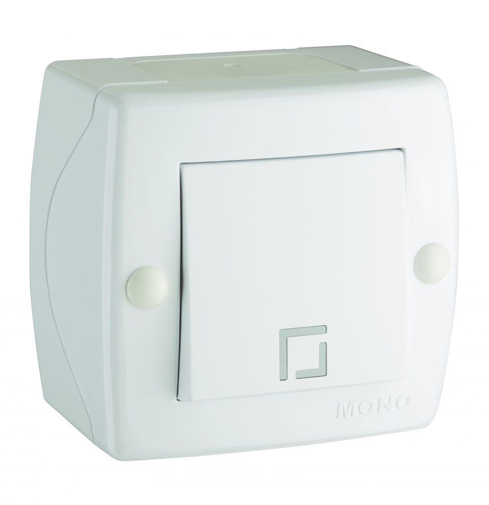 Intrerupator simplu Mono Electric, OCTANS, aparent/PT, alb