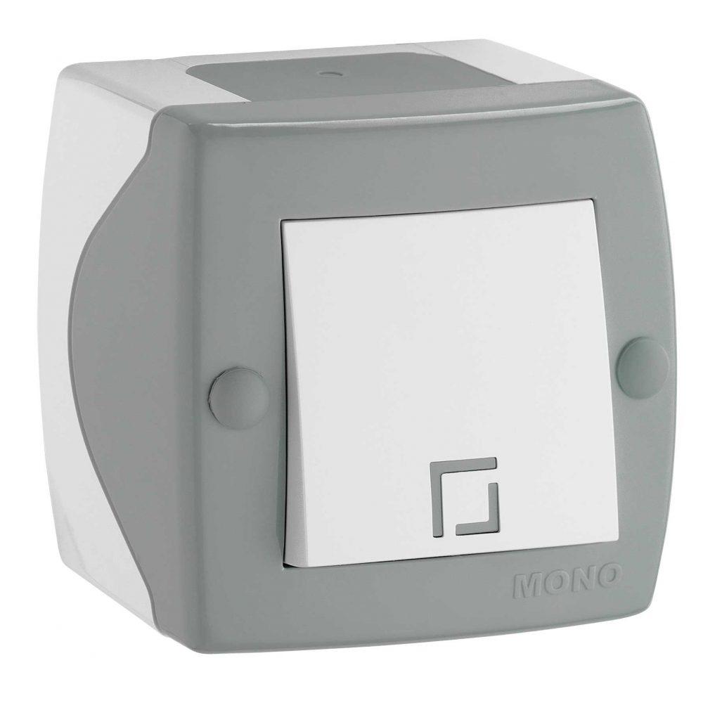 Intrerupator simplu Mono Electric, OCTANS, aparent/PT, gri