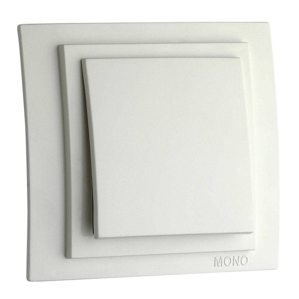 Intrerupator simplu Mono Electric, LARISSA, ingropat/ST, alb