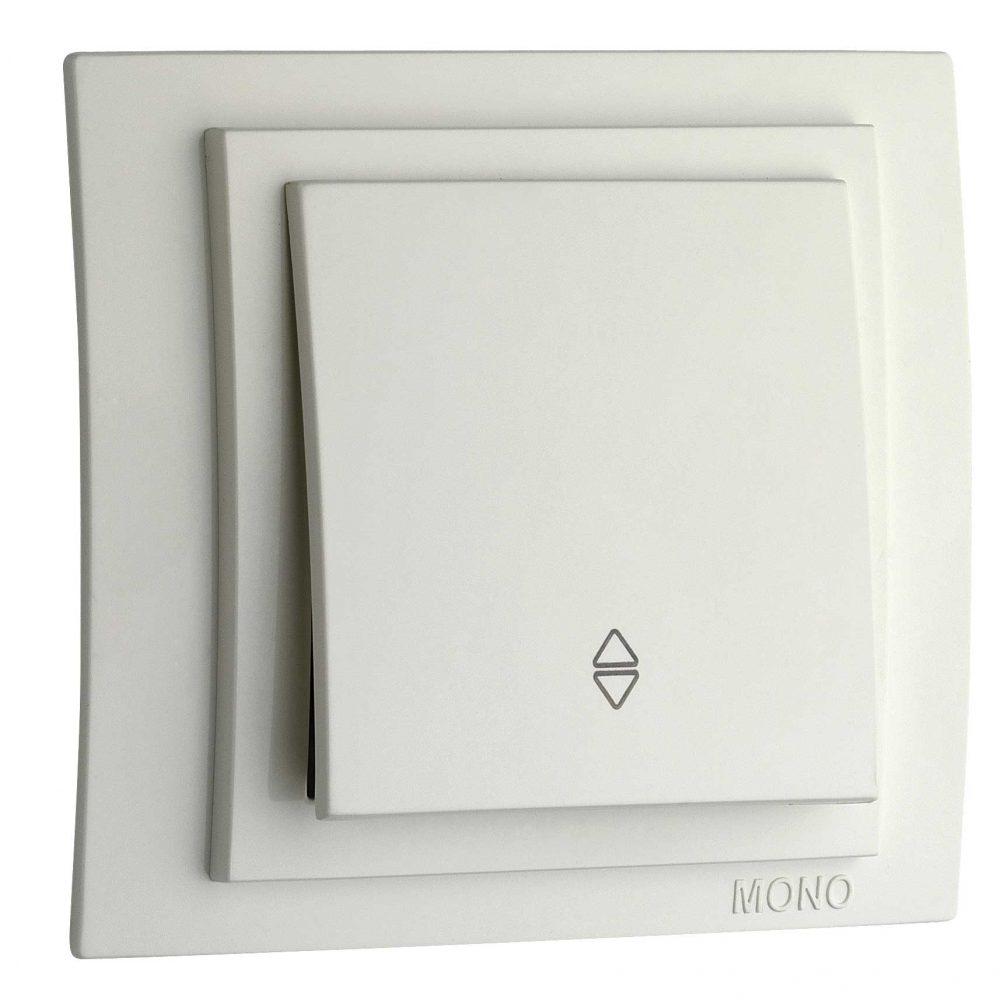 Intrerupator cap scara Mono Electric, LARISSA, ingropat/ST, alb