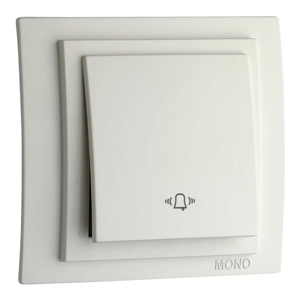 Intrerupator sonerie Mono Electric, LARISSA, ingropat/ST, alb
