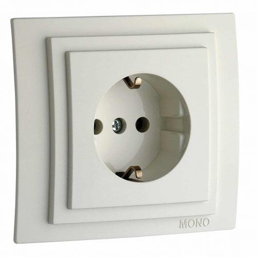 Priza cu CP Mono Electric, LARISSA, ingropat/ST, alb