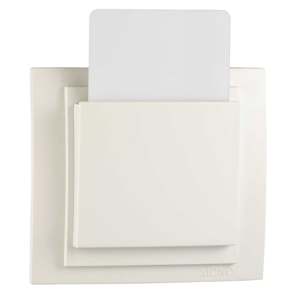 Intrerupator cartela Mono Electric, LARISSA, 230V, ingropat/ST, alb