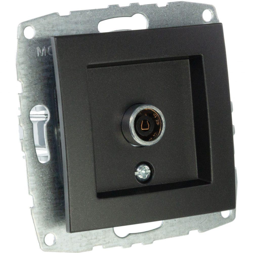 Mecanism Priza TV Mono Electric, de capat, 8dB-12dB-18dB-20dB, ingropat/ST, FUME