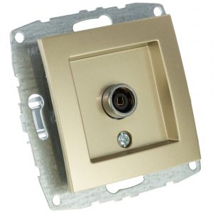 Mecanism Priza TV Mono Electric, de capat, 8dB-12dB-18dB-20dB, ingropat/ST, TITANIUM
