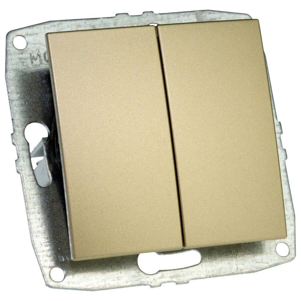 Mecanism Intrerupator dublu Mono Electric, ingropat/ST, TITANIUM