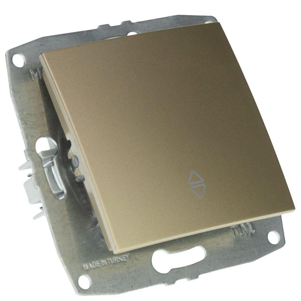 Mecanism Intrerupator cap scara Mono Electric, LARISSA, ingropat/ST, TITANIUM