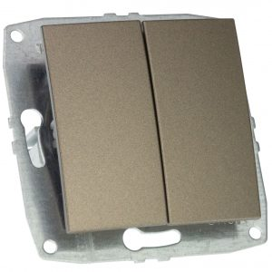 Mecanism Intrerupator dublu Mono Electric, ingropat/ST, LIGHT FUME