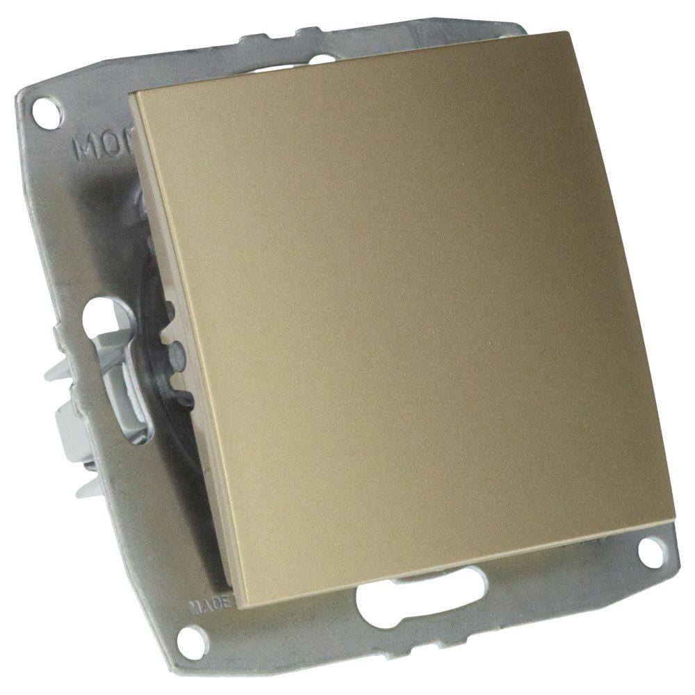 Mecanism Intrerupator simplu Mono Electric, ingropat/ST, TITANIUM