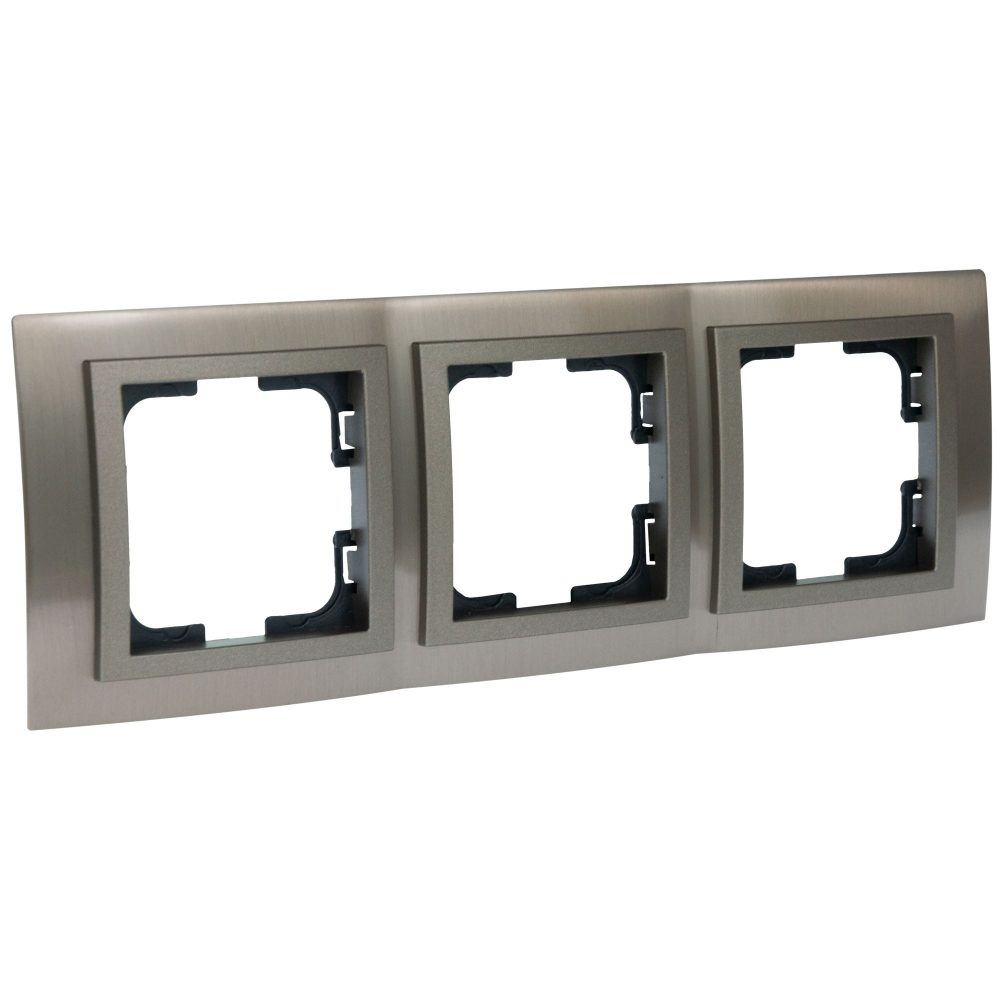 Rama Mono Electric, 3 module, CHROME, BRONZ
