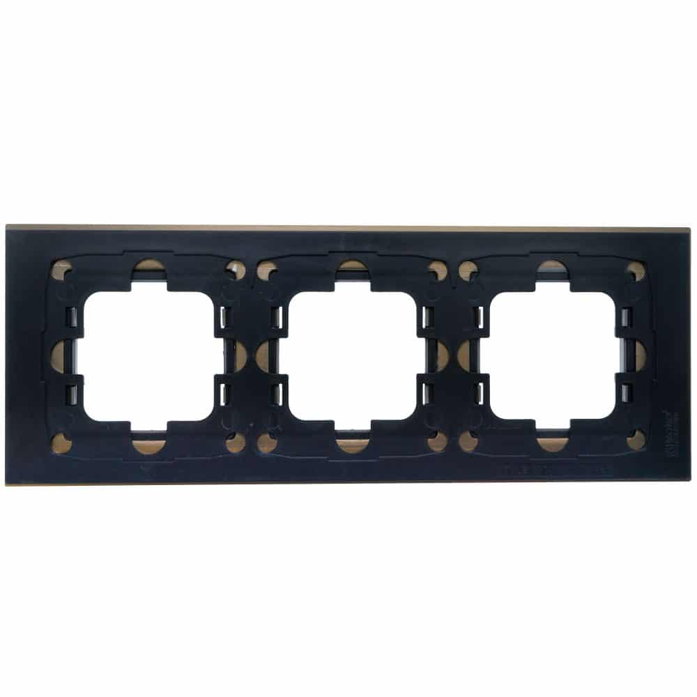 Rama Mono Electric, 3 module, STYLE ALUMINIU, BRONZ