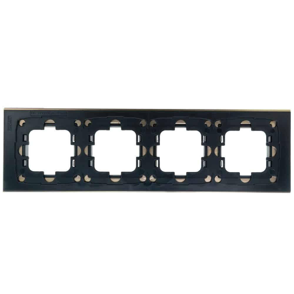 Rama Mono Electric, 4 module, STYLE ALUMINIU, BRONZ