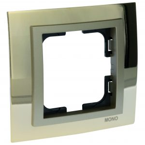 Rama Mono Electric, 1 modul, CHROME, GOLD