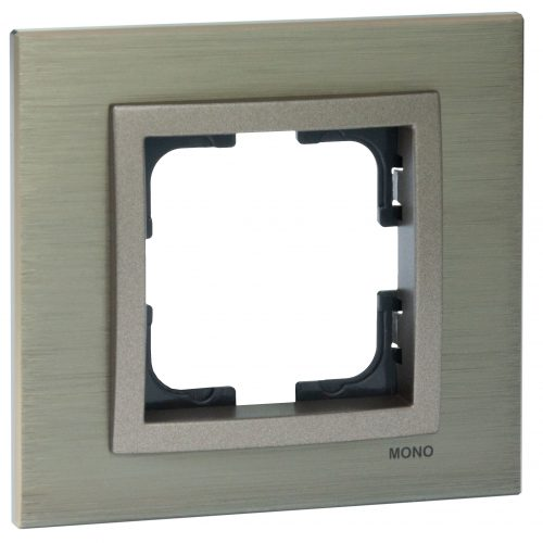 Rama Mono Electric, 1 modul, STYLE ALUMINIU, BRONZ