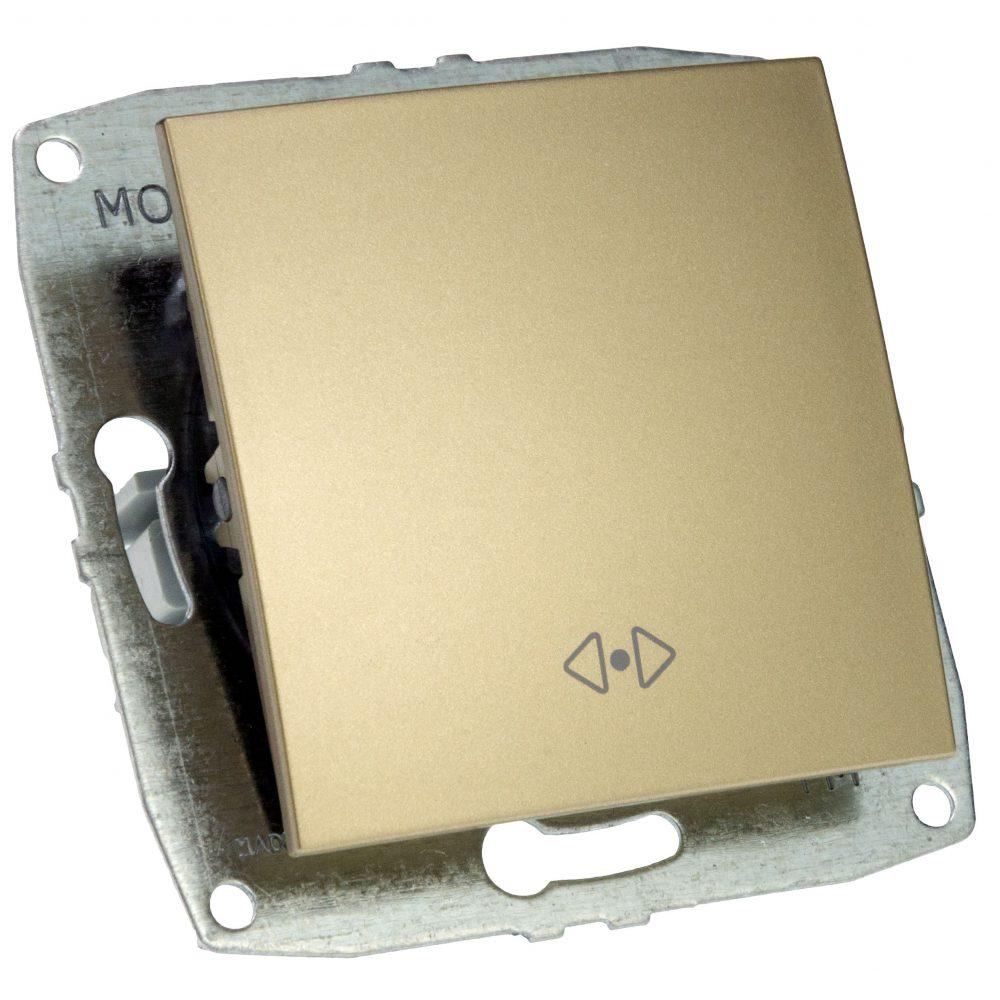 Mecanism Intrerupator cap cruce Mono Electric, ingropat/ST, TITANIUM