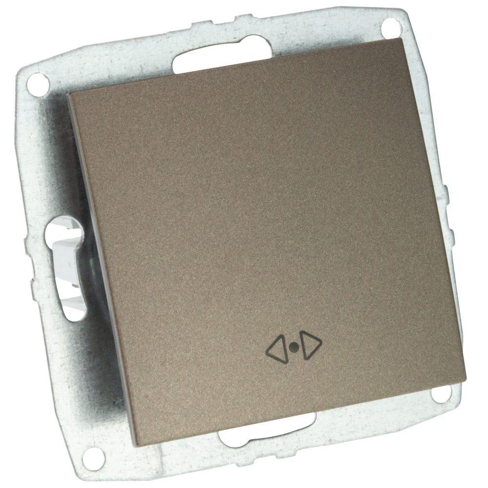 Mecanism Intrerupator cap cruce Mono Electric, ingropat/ST, LIGHT FUME
